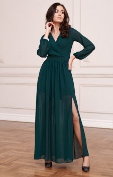 Wieczorowa sukienka maxi zielona 0257