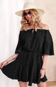 Urocza sukienka hiszpanka 0333 czarna