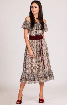 Sukienka z hiszpańskim dekoltem 0247/D14