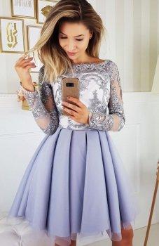 Bicotone 2137-03 sukienka szara