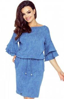 Bergamo 81-03 sukienka niebieska