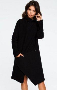 BE B098 sukienka czarna