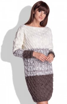 FIMFI I152 sukienka brązowa