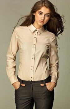 *Nife k38 koszula beżowa