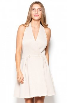 Katrus K386 sukienka beżowa