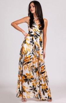 Kwiatowa sukienka maxi D24