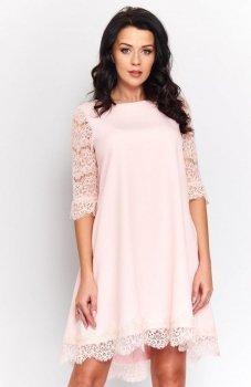 *Roco 0188 sukienka pudrowy róż