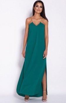 Długa sukienka Inez zielona