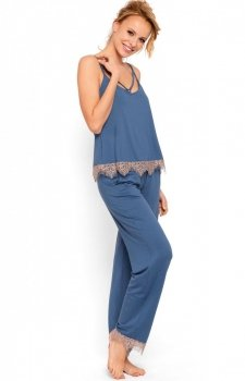 Niebieska piżama damska Pigeon P-632/2