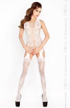 Passion BS012 bodystocking biały