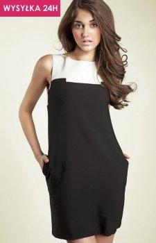 *Nife s25 sukienka czarna