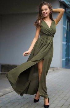Roco 0213 sukienka butelkowa zieleń