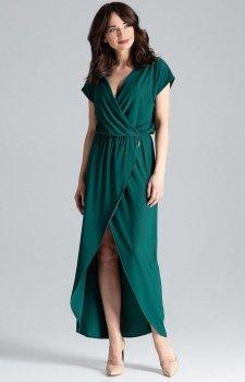 Długa sukienka zielona L033