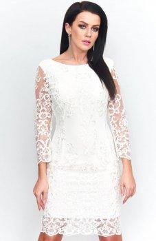 *Roco 0122 sukienka biały