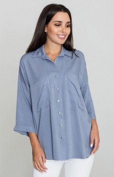 Figl M583 koszula niebieska