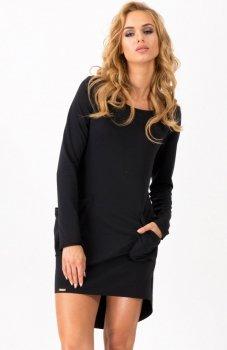 *Makadamia M159 sukienka czarna