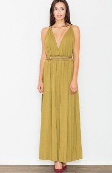 Figl M483 sukienka oliwkowa