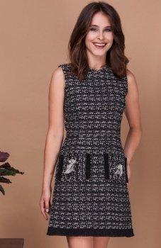 Milu by Milena Płatek MP391 sukienka czarny-ecru