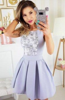 Bicotone 2145-33 sukienka szara