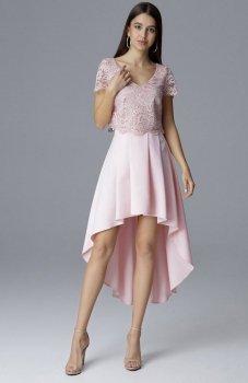 Figl M641 spódnica i top różowy