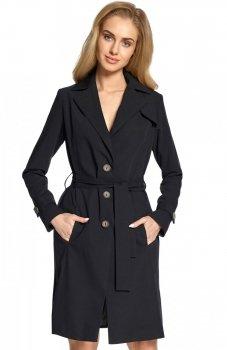 Style S094 płaszcz typu trencz czarny