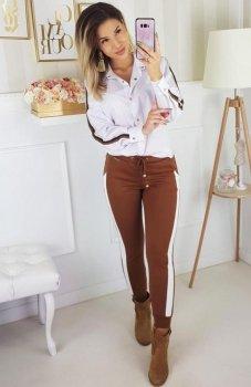 Carmel spodnie z lampasami