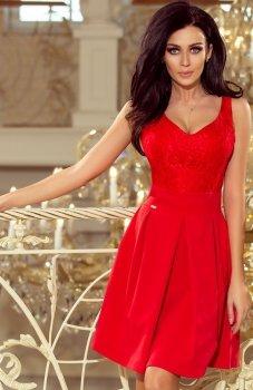 *Numoco 208-2 sukienka czerwona
