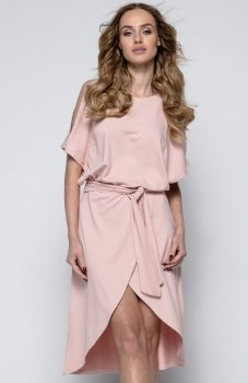 FIMFI I248 sukienka pudrowy róż