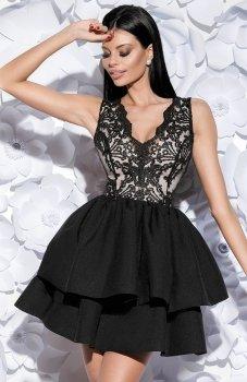 Bicotone 2126-06 sukienka rozkloszowana czarna