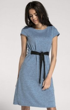 Dzianinowa sukienka z wiązaniem NA1004