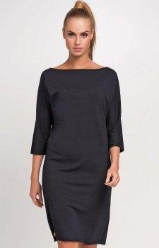 *Makadamia M236 sukienka czarna