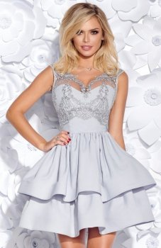 Bicotone 2155-03 sukienka szara