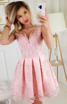 Elegancka koronkowa sukienka 2136-12