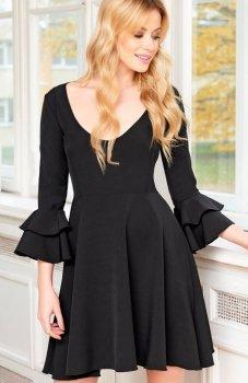 Makadamia M393 sukienka czarna