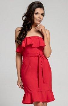 Nommo NA303 sukienka czerwona