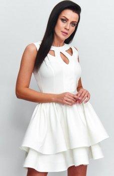 *Roco R-198 sukienka ecru