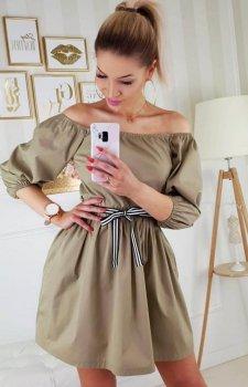 Koszulowa sukienka Bellisima oliwkowa