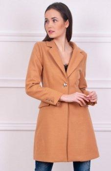 Wiosenny płaszcz karmelowy ciemny Roco 008