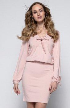 *FIMFI I244 sukienka pudrowy róż
