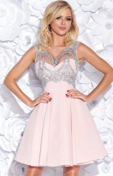 Bicotone 2156-33 sukienka pudrowy róż