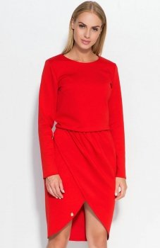 Makadamia M327 sukienka czerwona