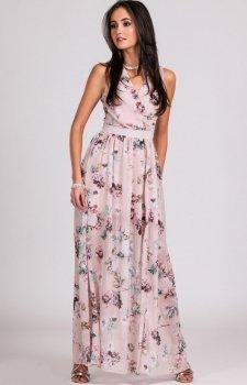 Kwiatowa sukienka maxi D01
