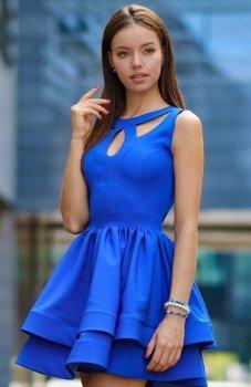 *Roco R-198 sukienka chabrowa