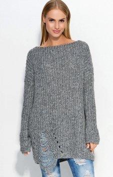 Makadamia S41 sweter grafitowy