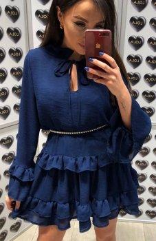 Lola Fashion Spanish sukienka granatowa