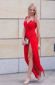 *Ivon Dalia sukienka czerwona