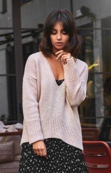 BE BK012 sweter jasnoróżowy