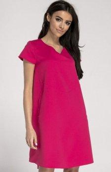 Oversizowa casualowa sukienka różowa NA1003