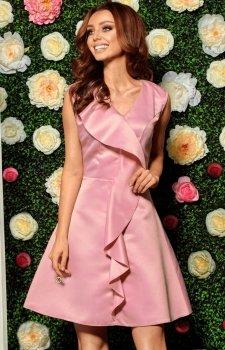 Lemoniade L259 sukienka pudrowy róż