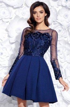 Bicotone 2157-01 sukienka granatowa